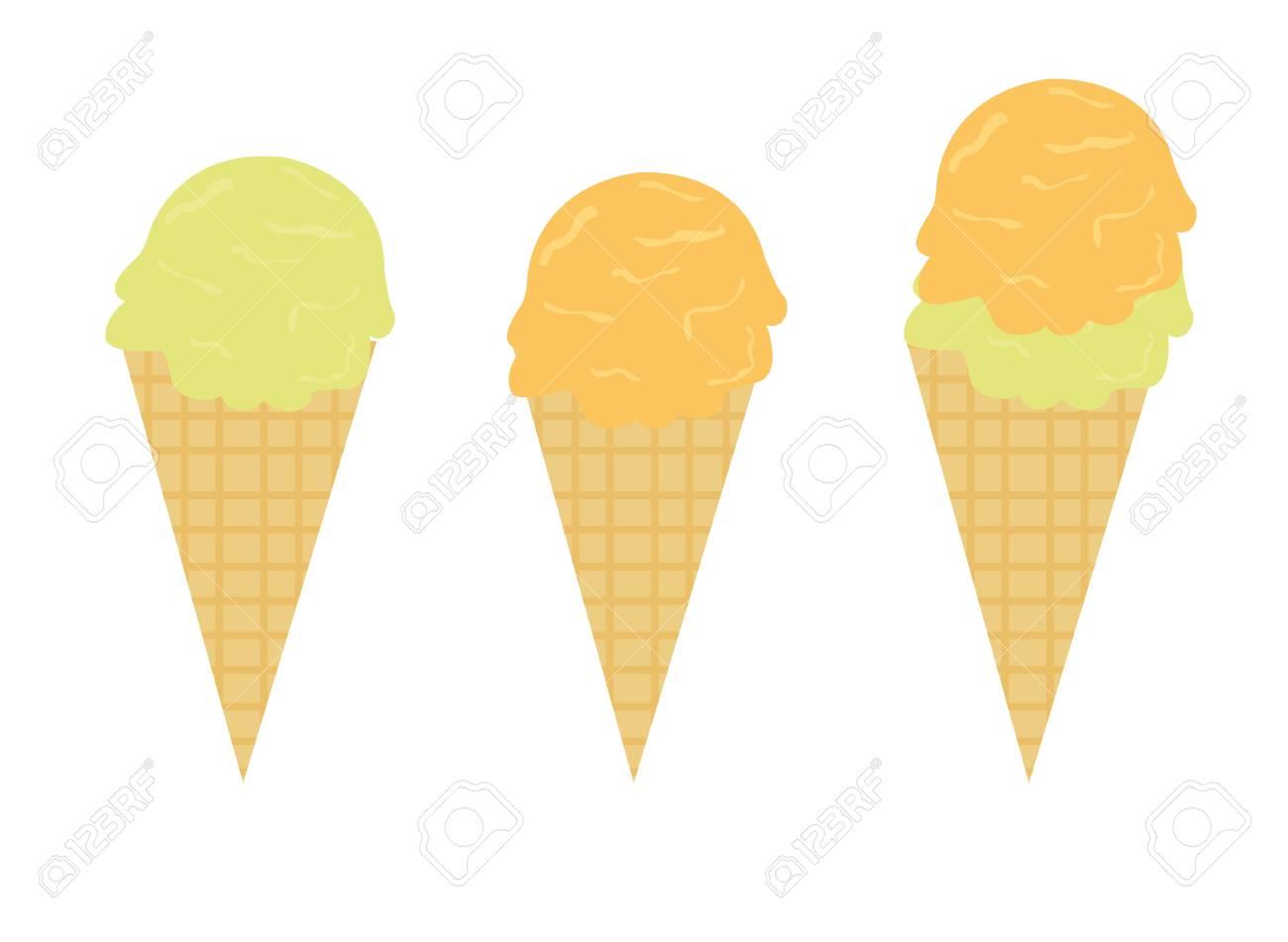 ice cream cartoon isolated over white backgroud. vector Stock Vector - 10768284