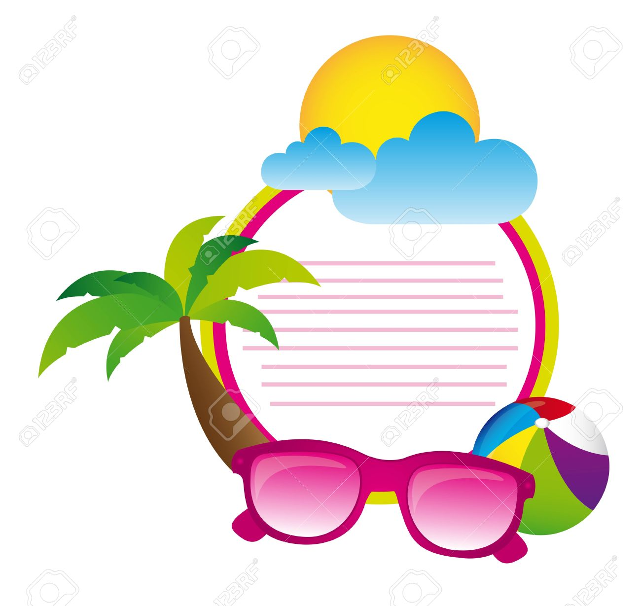 summer day with space advertising elements summer vector royalty rh 123rf com summer vector graphics summer vector ii-z vr review