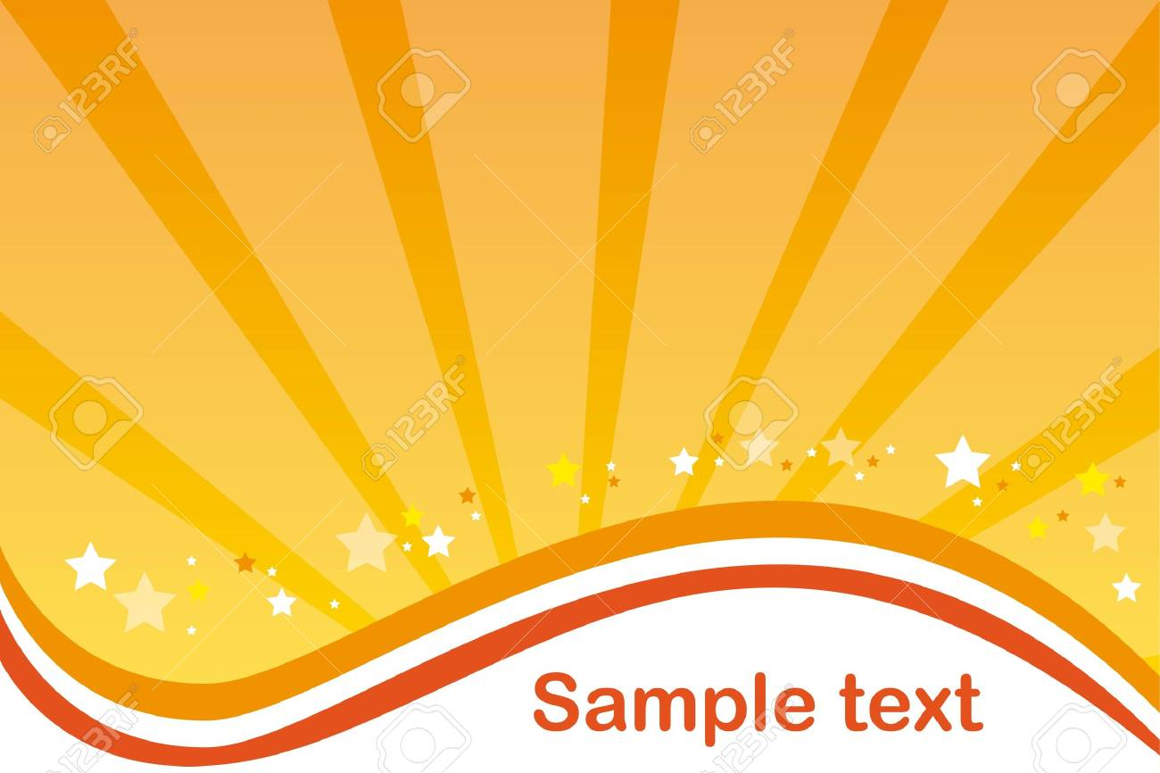 yellow and orange background with stars. vector illustration Stock Vector - 11618614