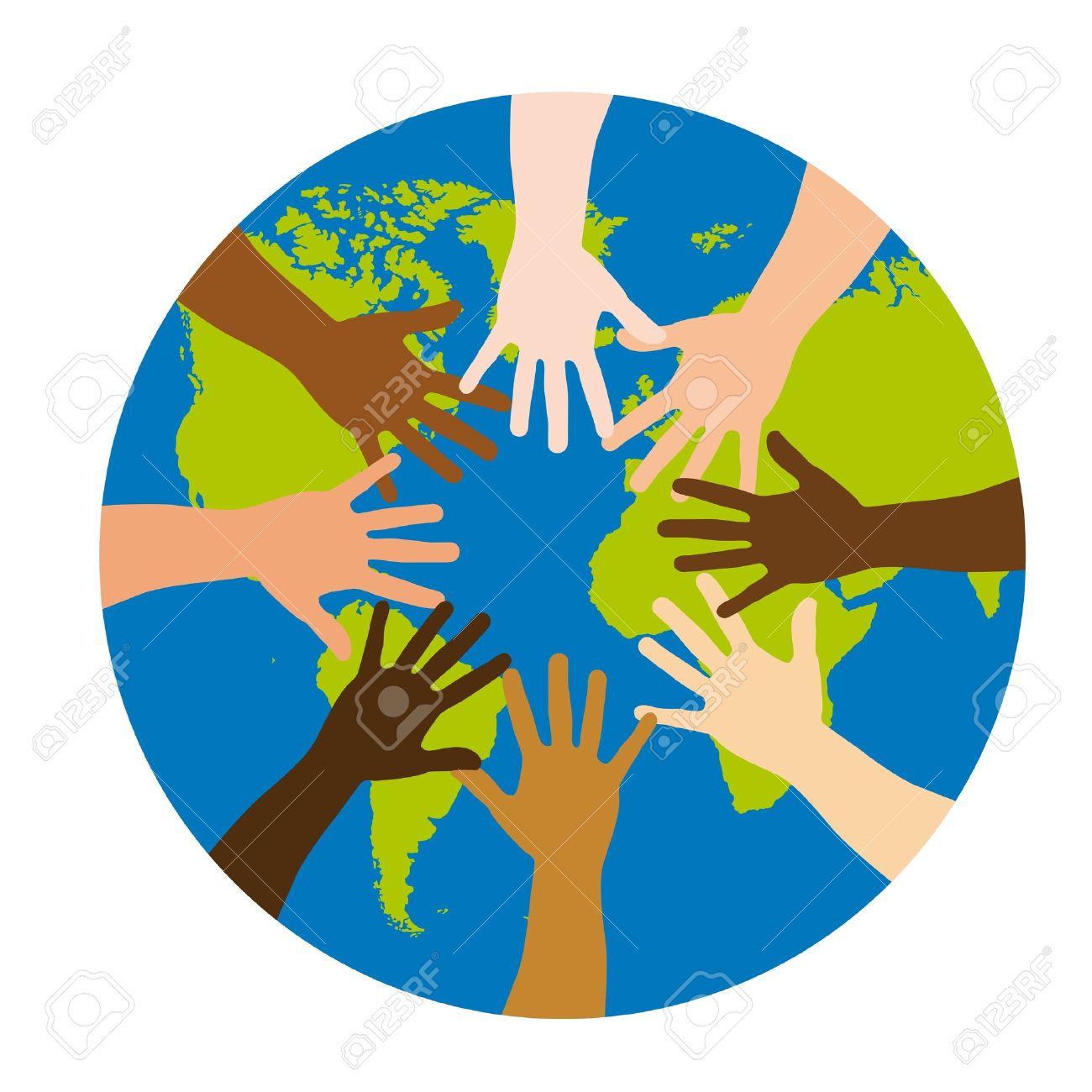 diversity over world over white background. vector illustration - 11618557