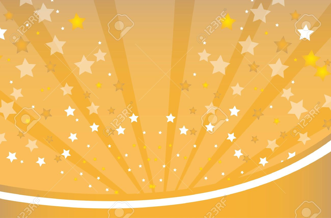 gold and white star over gold background vector illustration