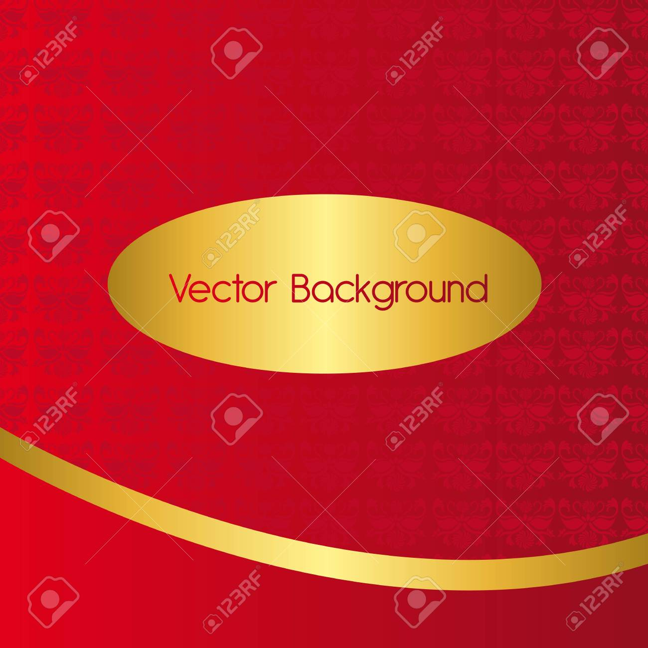 red and gold ornament background. vector illustration Stock Vector - 11890382