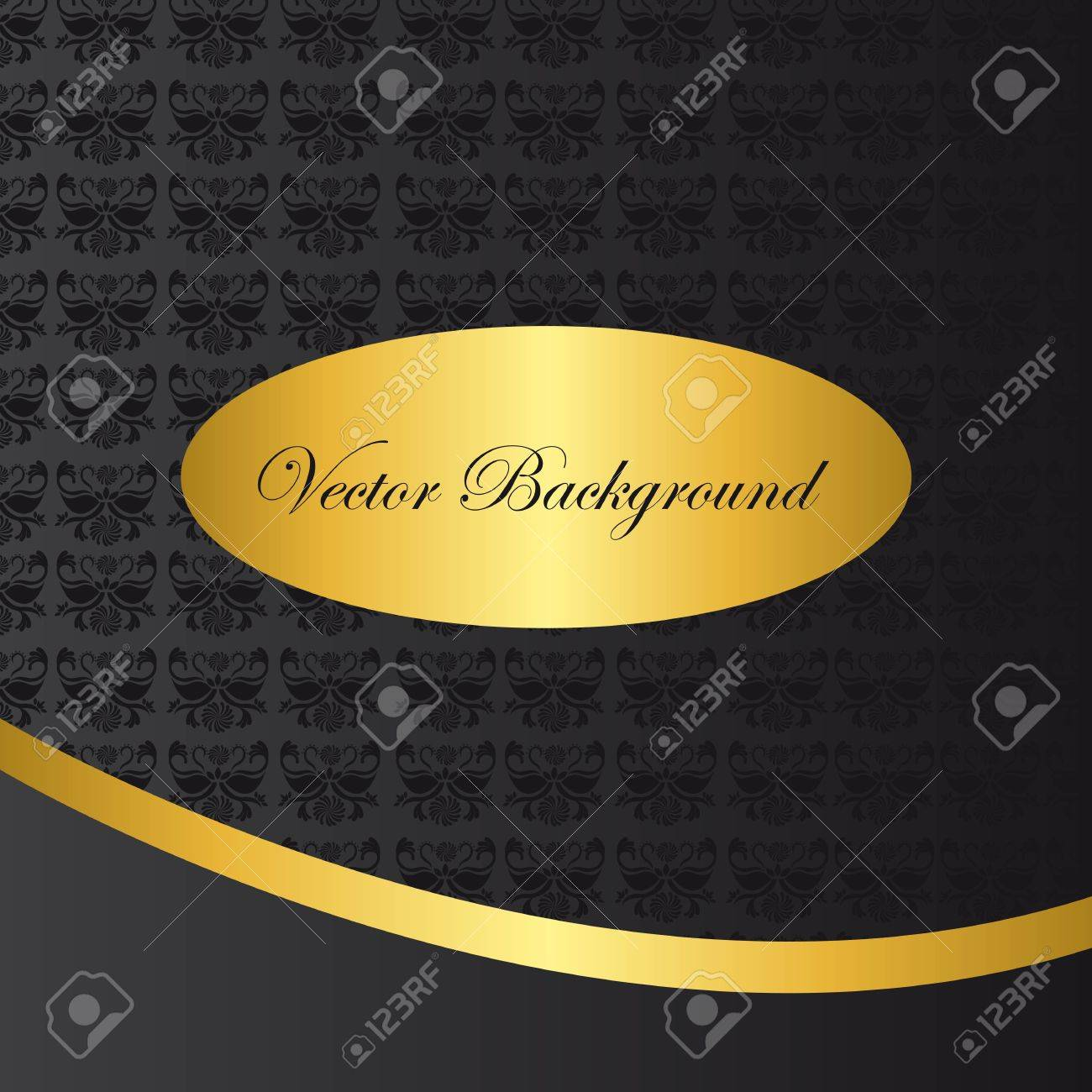 black and gold ornament background vector illustration Stock Vector - 11890385