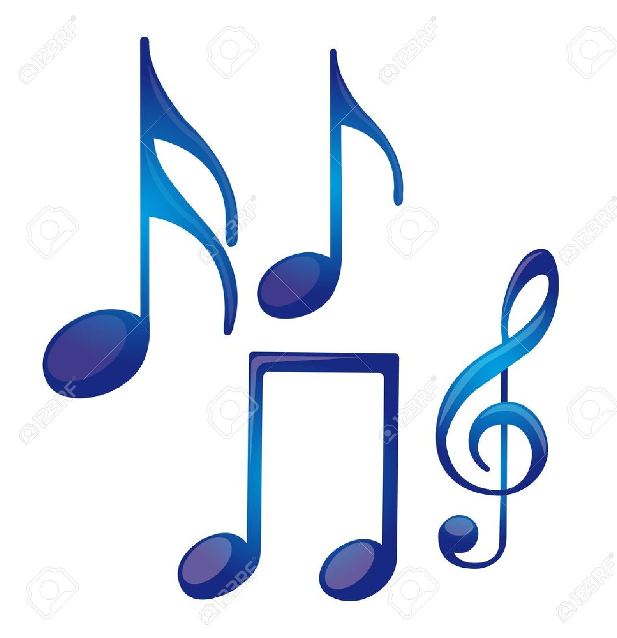 blue music notes isolated over white background vector royalty free rh 123rf com White Music Note Vector Music Notes Vector Art Free