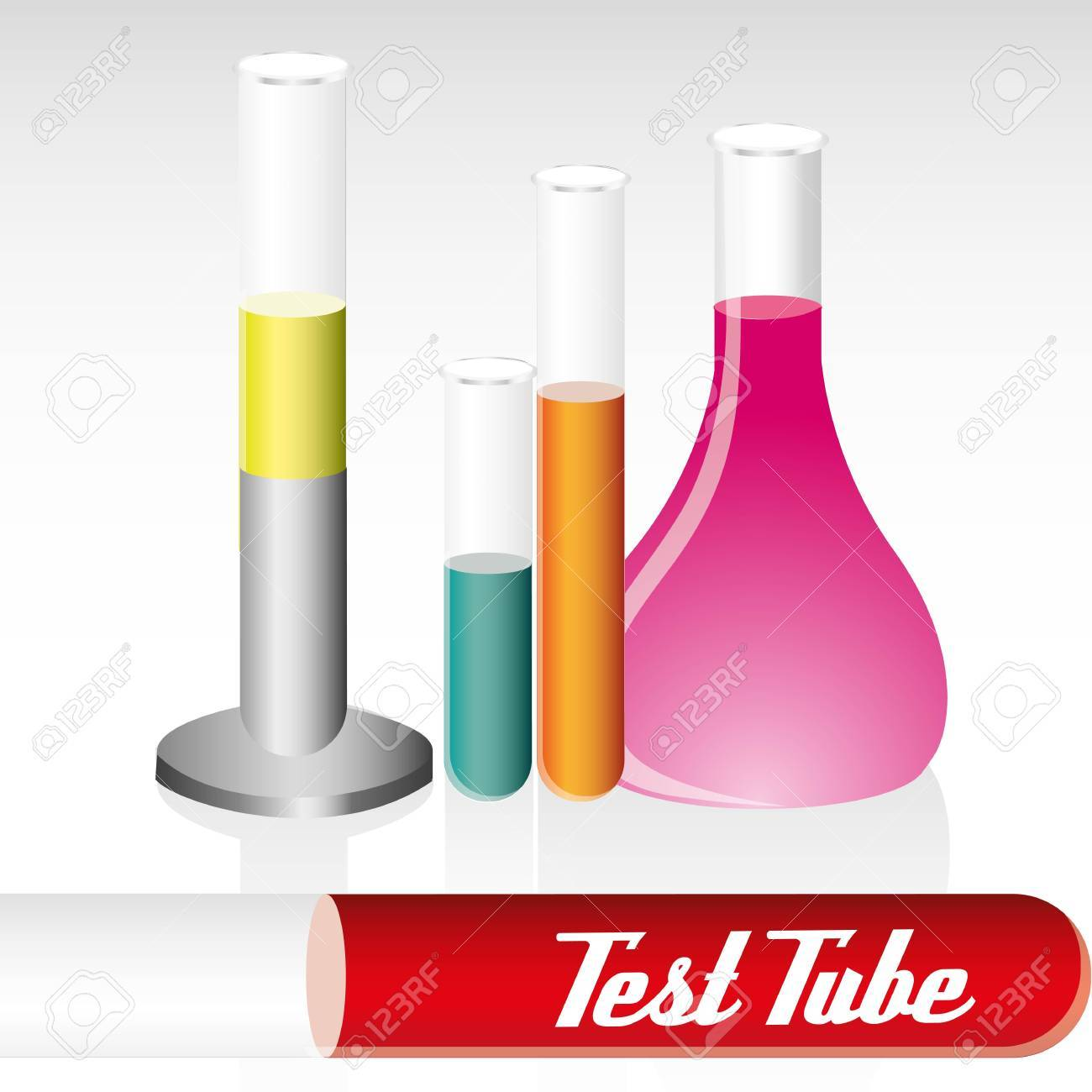 set of differents test tubes, vector illustration Stock Vector - 12756089