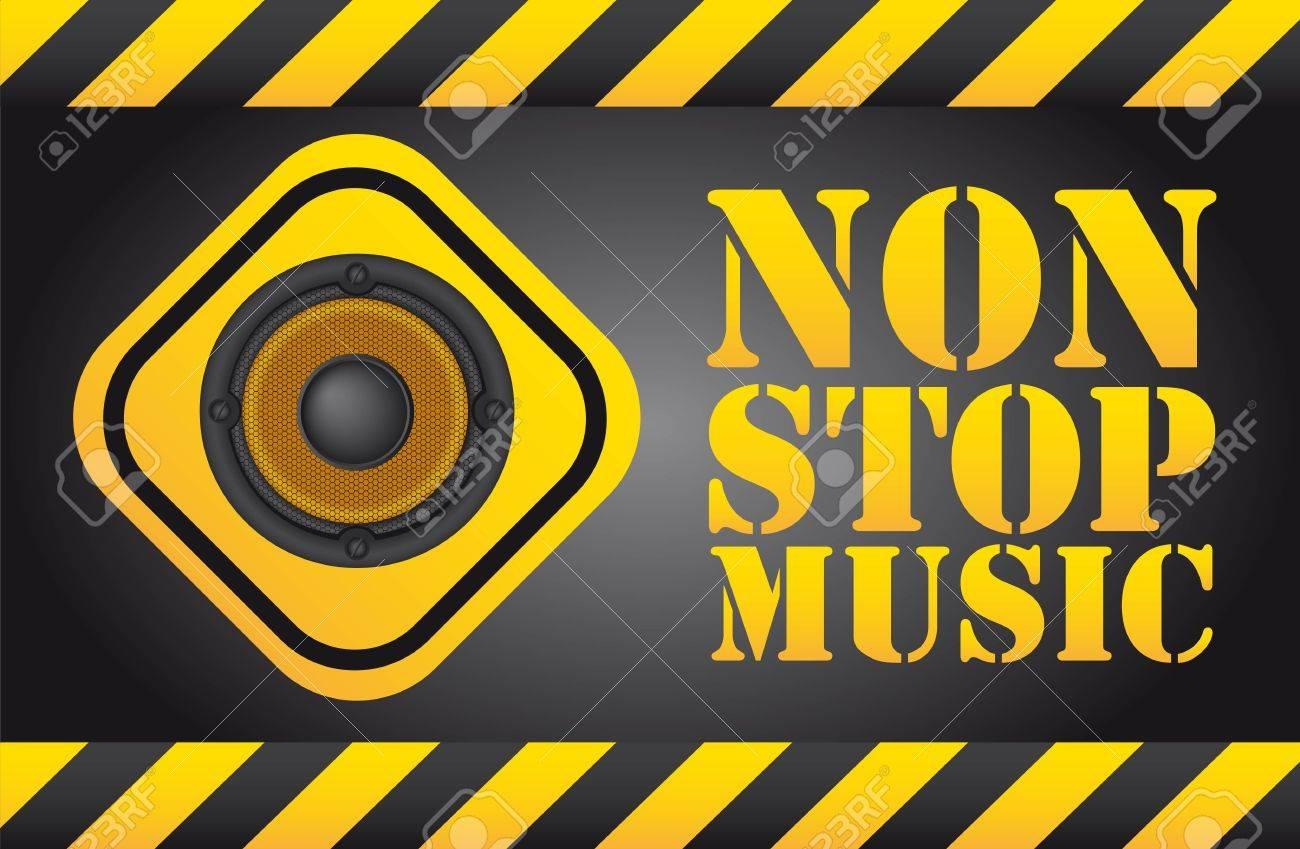 speaker over sign, non stop music background Stock Vector - 12939648