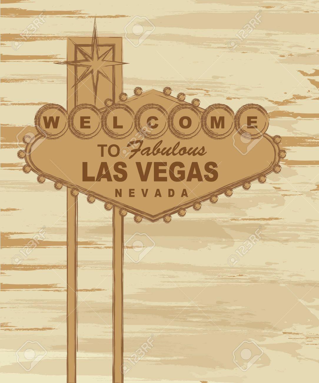 grunge welcome to fabulous las vegas nevada sign. vector Stock Vector - 13216435