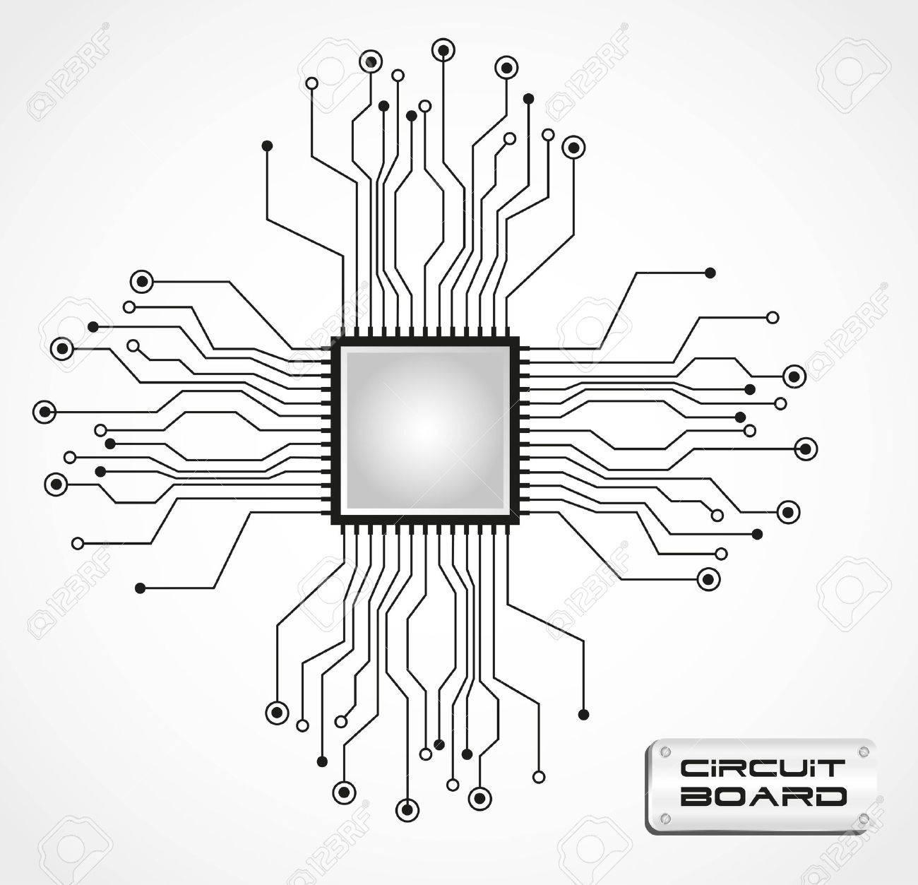 Nice Circuit Imprimé Vector Adornment - Electrical Circuit Diagram ...