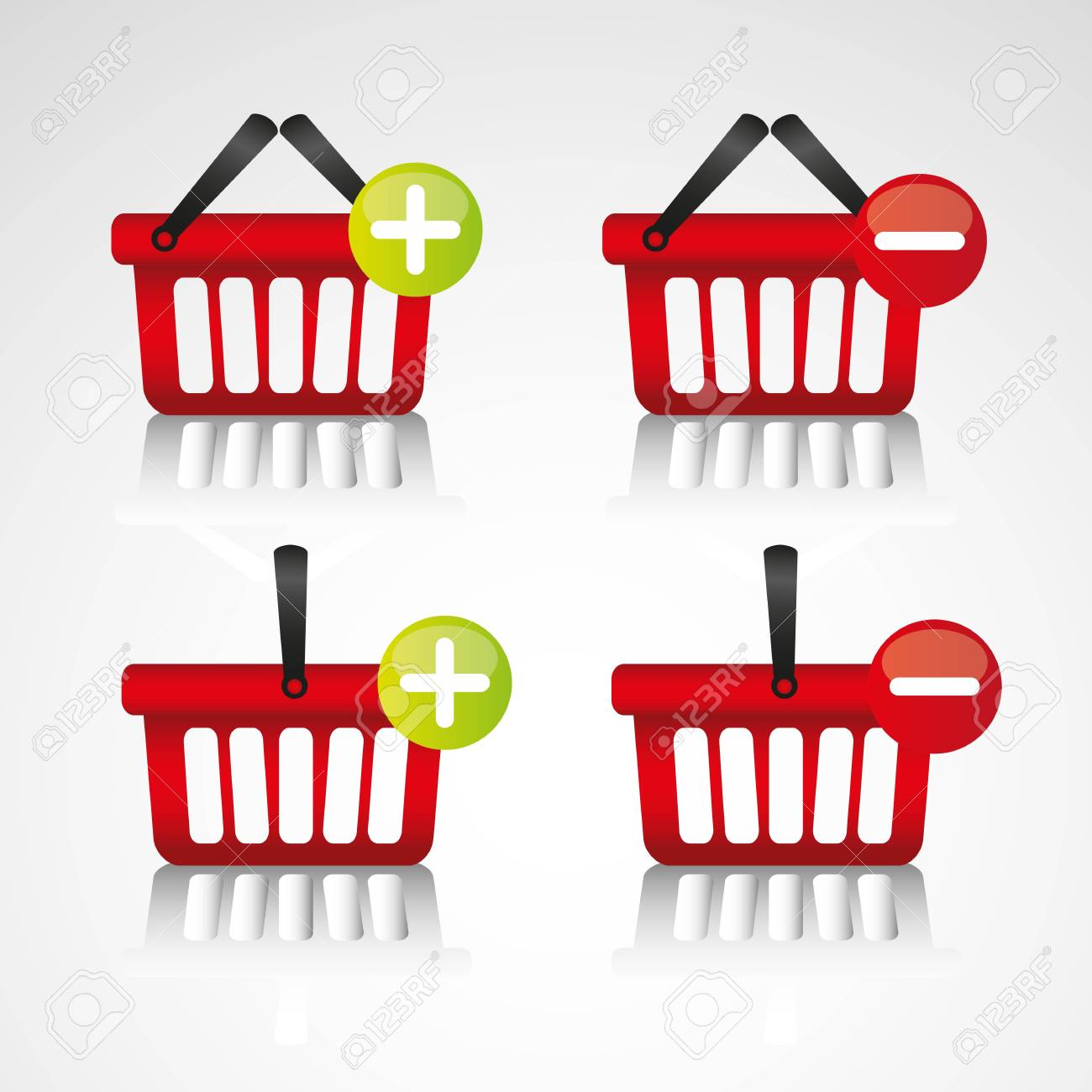 purchase baskets, to virtual store, isolated on white background Stock Vector - 13339442