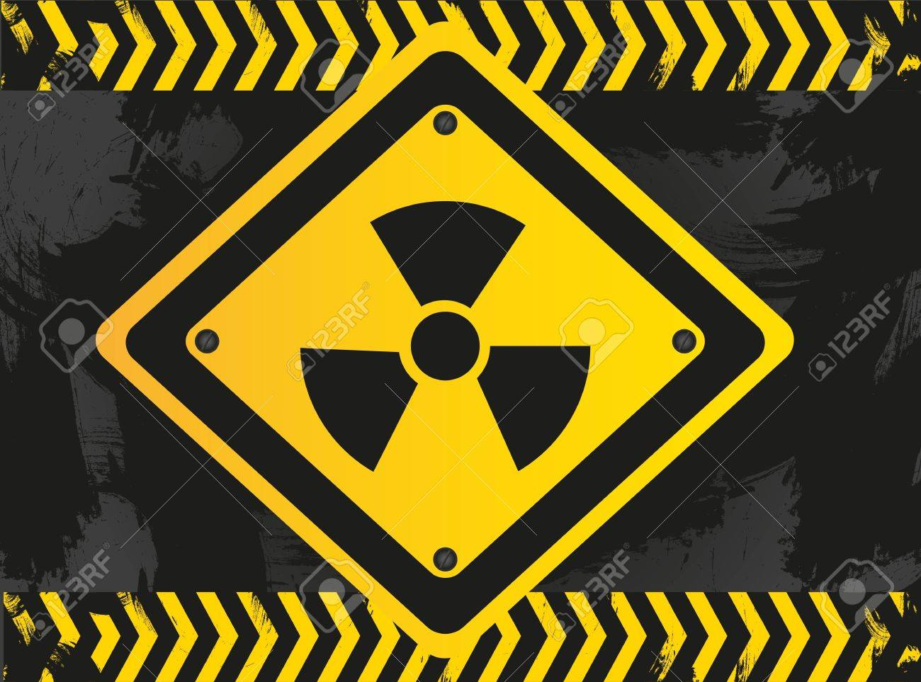 biohazard sign on grunge background Stock Vector - 13650687