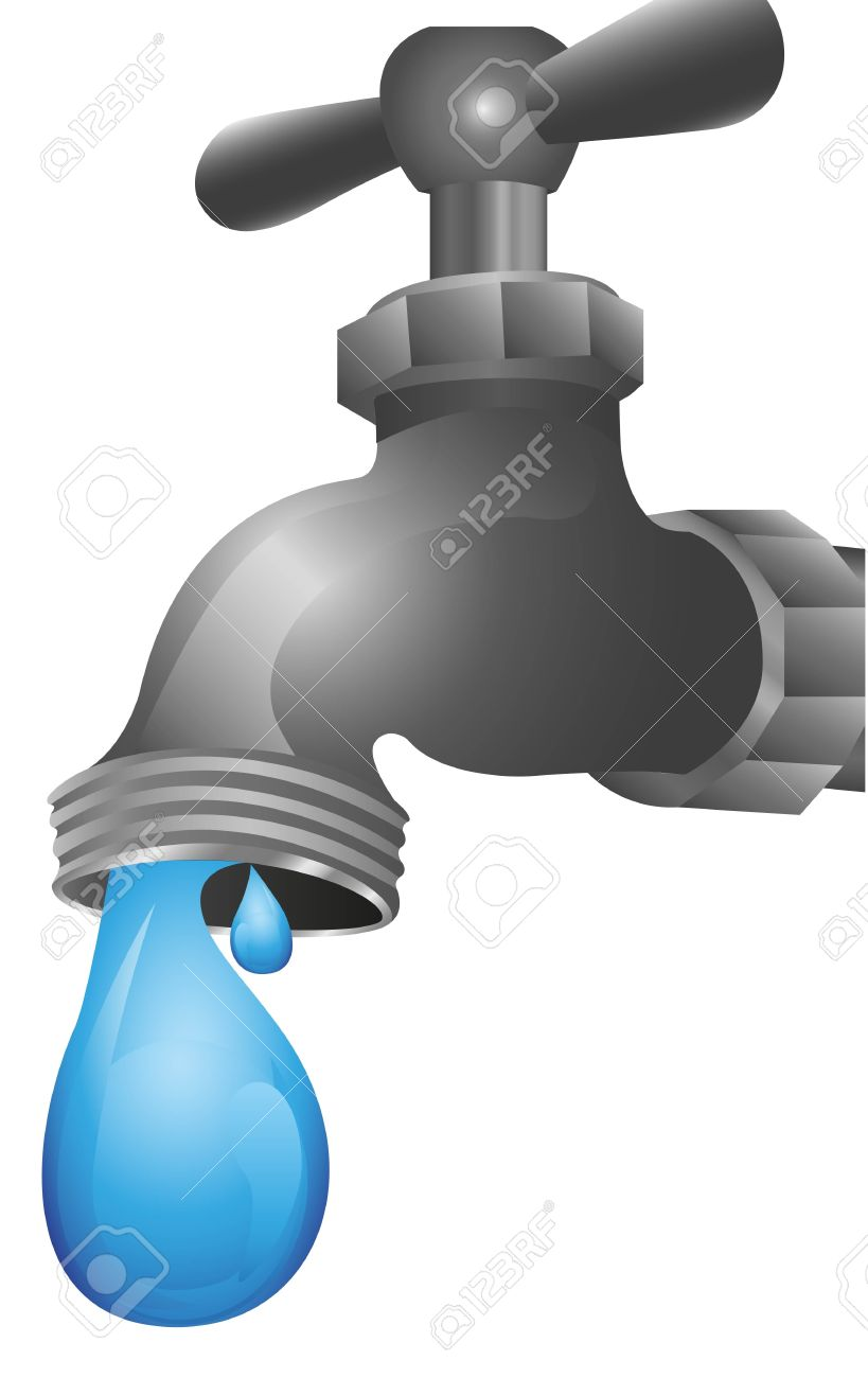 Dripping Tap Illustration Isolated On White Background Royalty Free ...