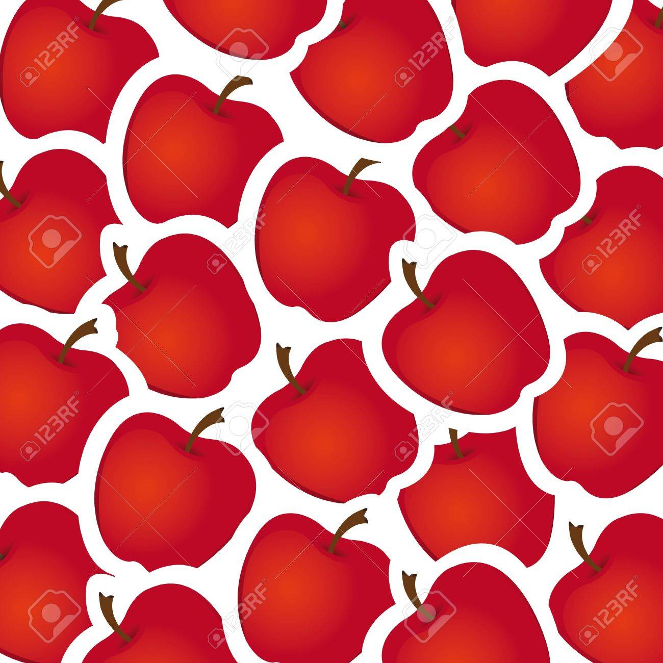 apple stickers pattern, illustration Stock Vector - 13774542
