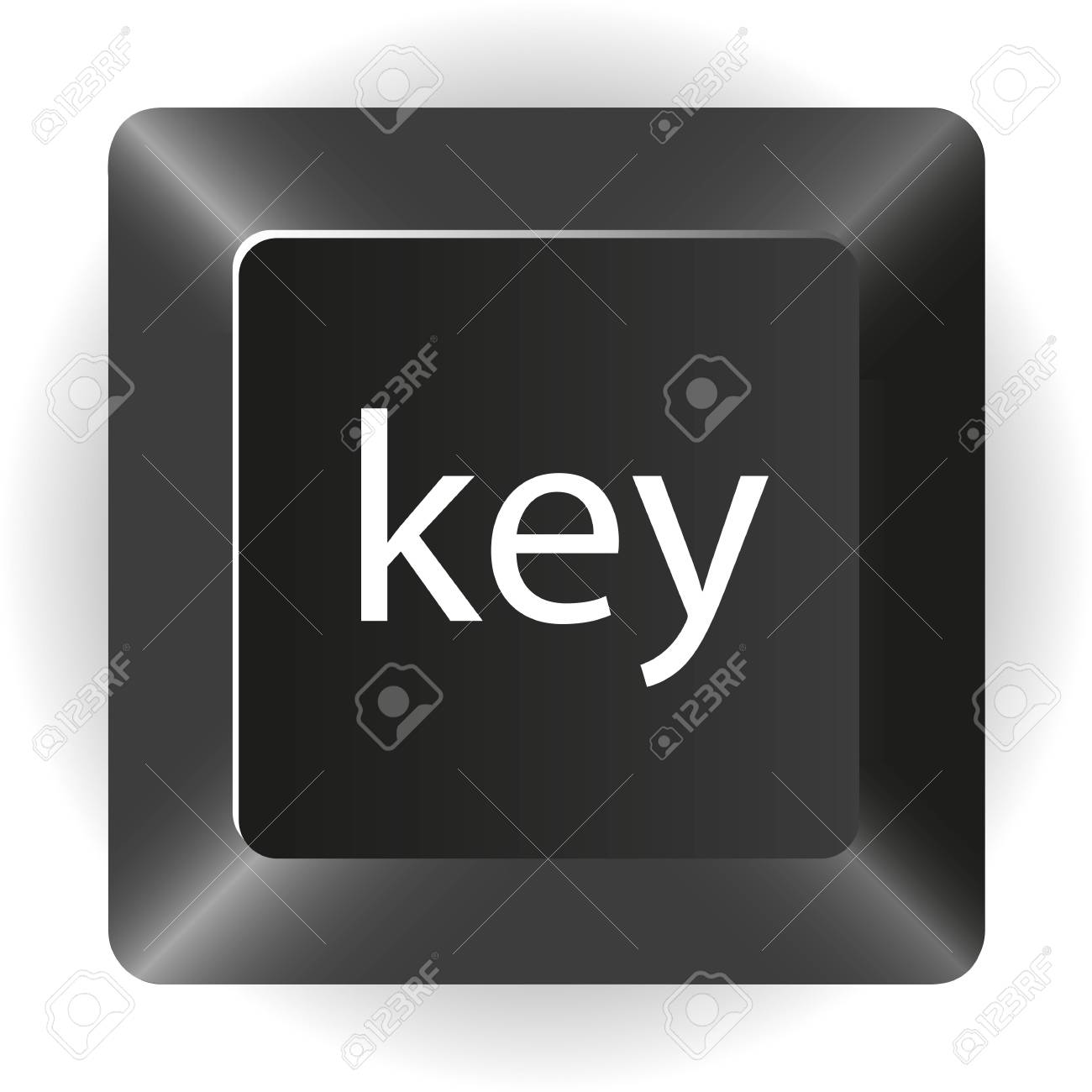 computer black key, isolated on white background, Stock Vector - 14040807