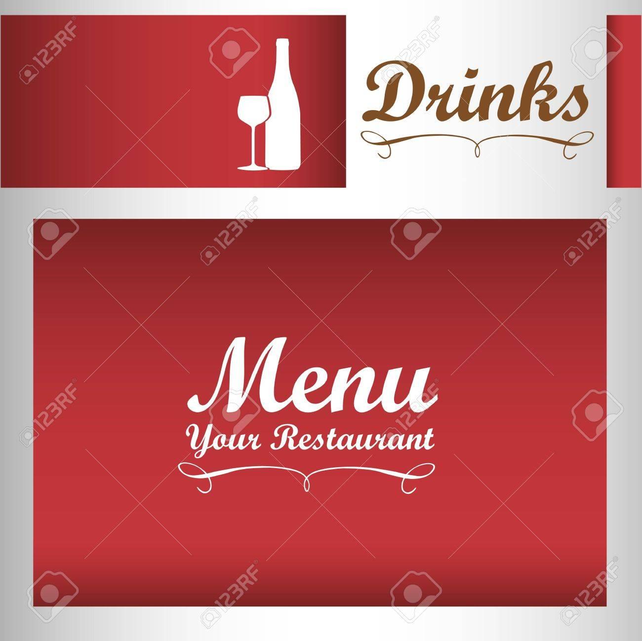 Elegant card for wines menu, vector illustration Stock Vector - 14345198