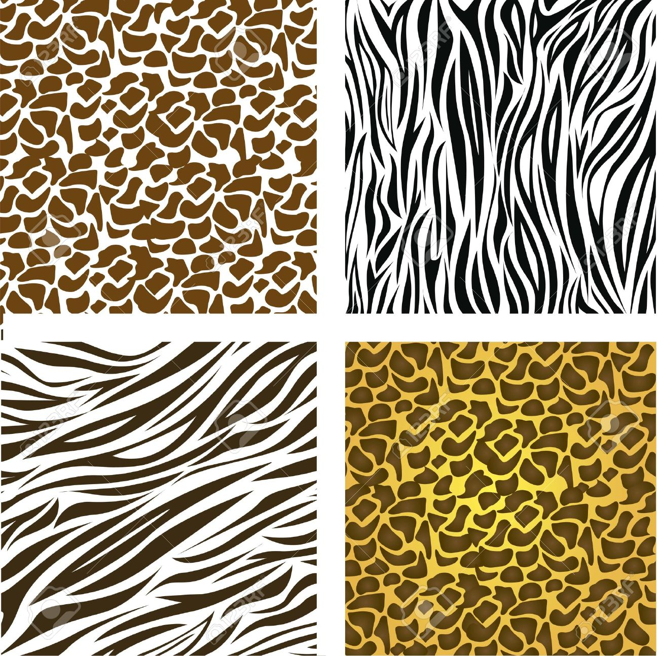 vector pattern of animal print vector illustration - Animal Pictures To Print Free