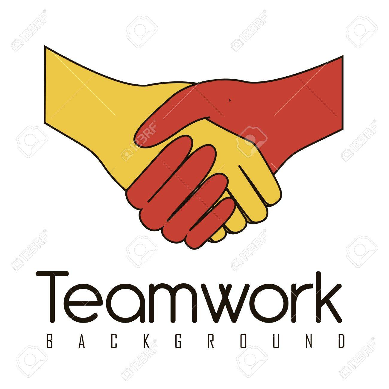 illustration of handshake isolated on white background, vector illustration Stock Vector - 14473076