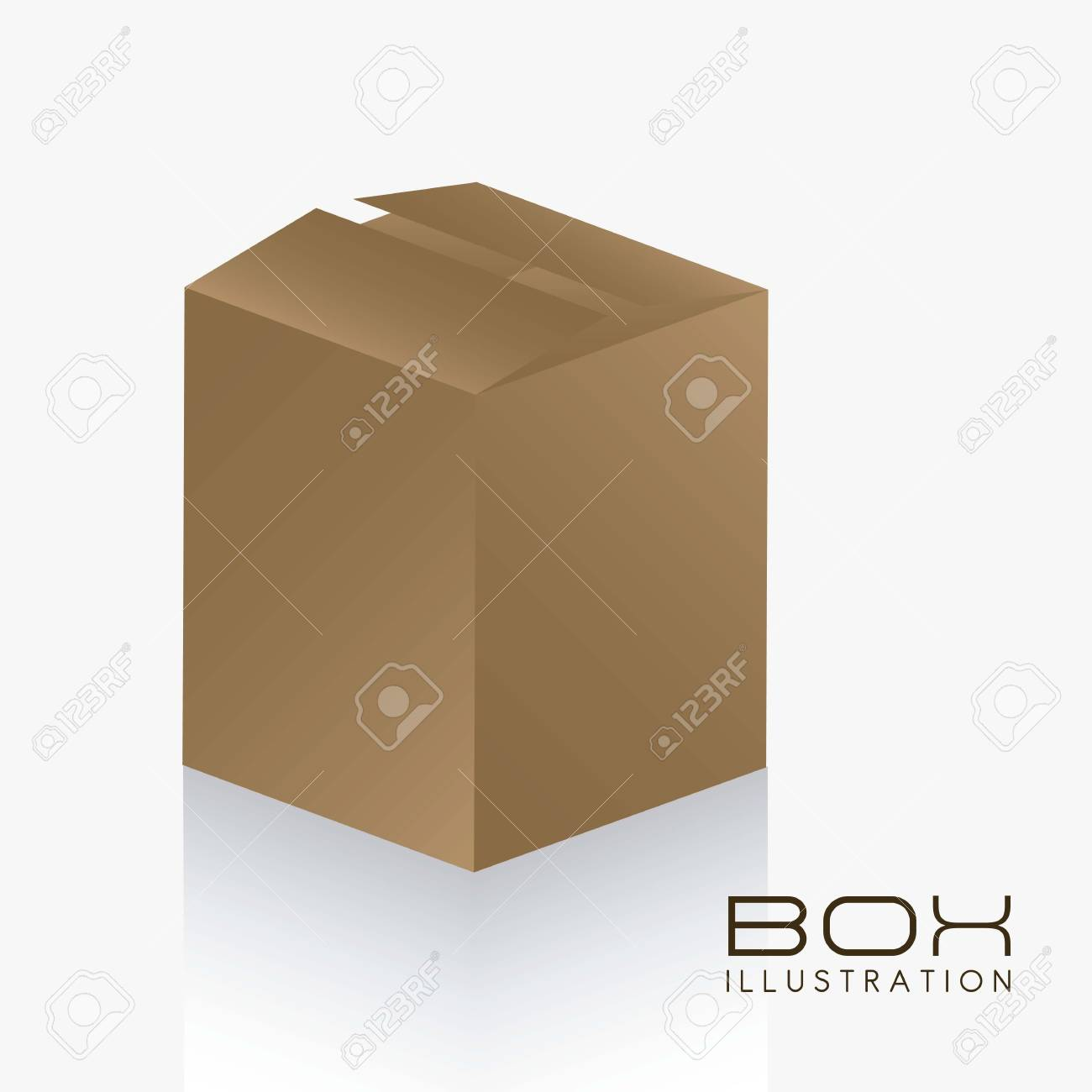 illustration of brown box on white background illustration Stock Vector - 14628022