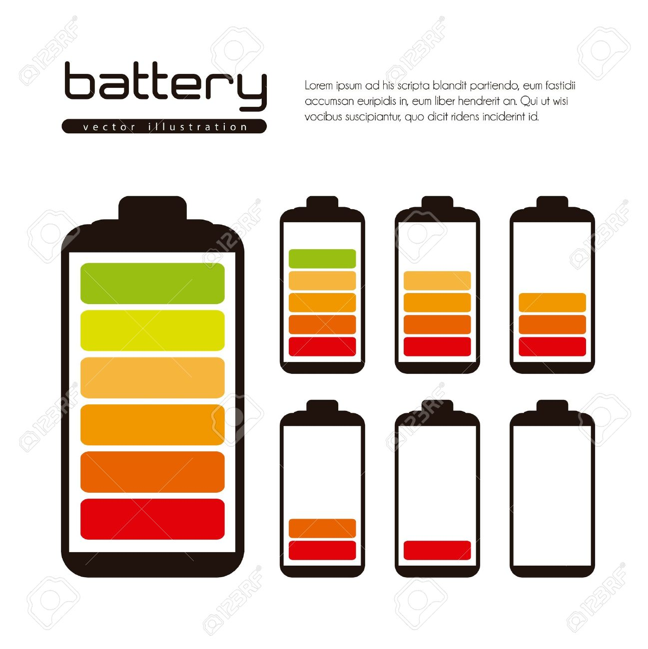 Battery load illustration isolated on white background Stock Vector - 14784221