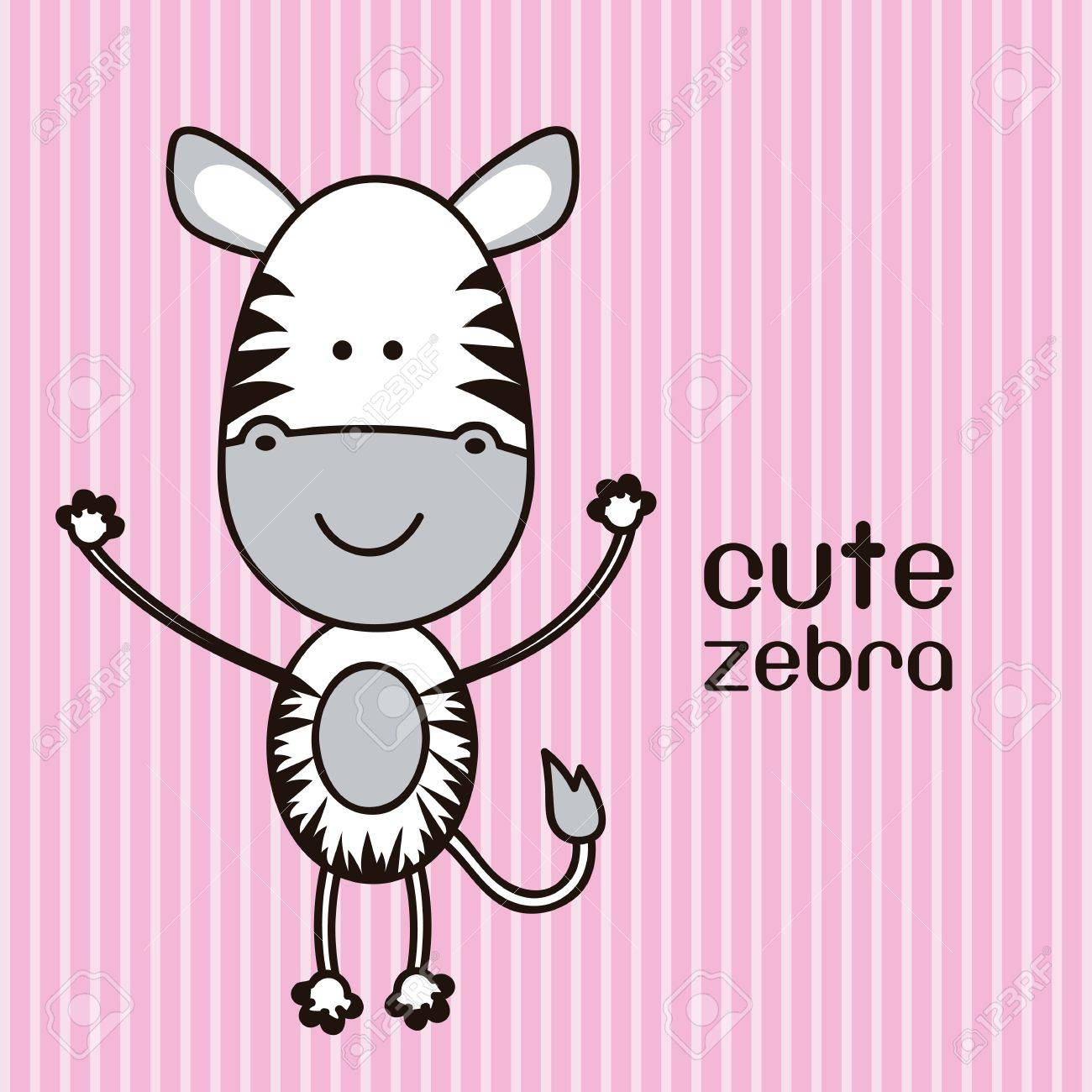 Illustration of a cute zebra background, illustration Stock Vector - 15205604