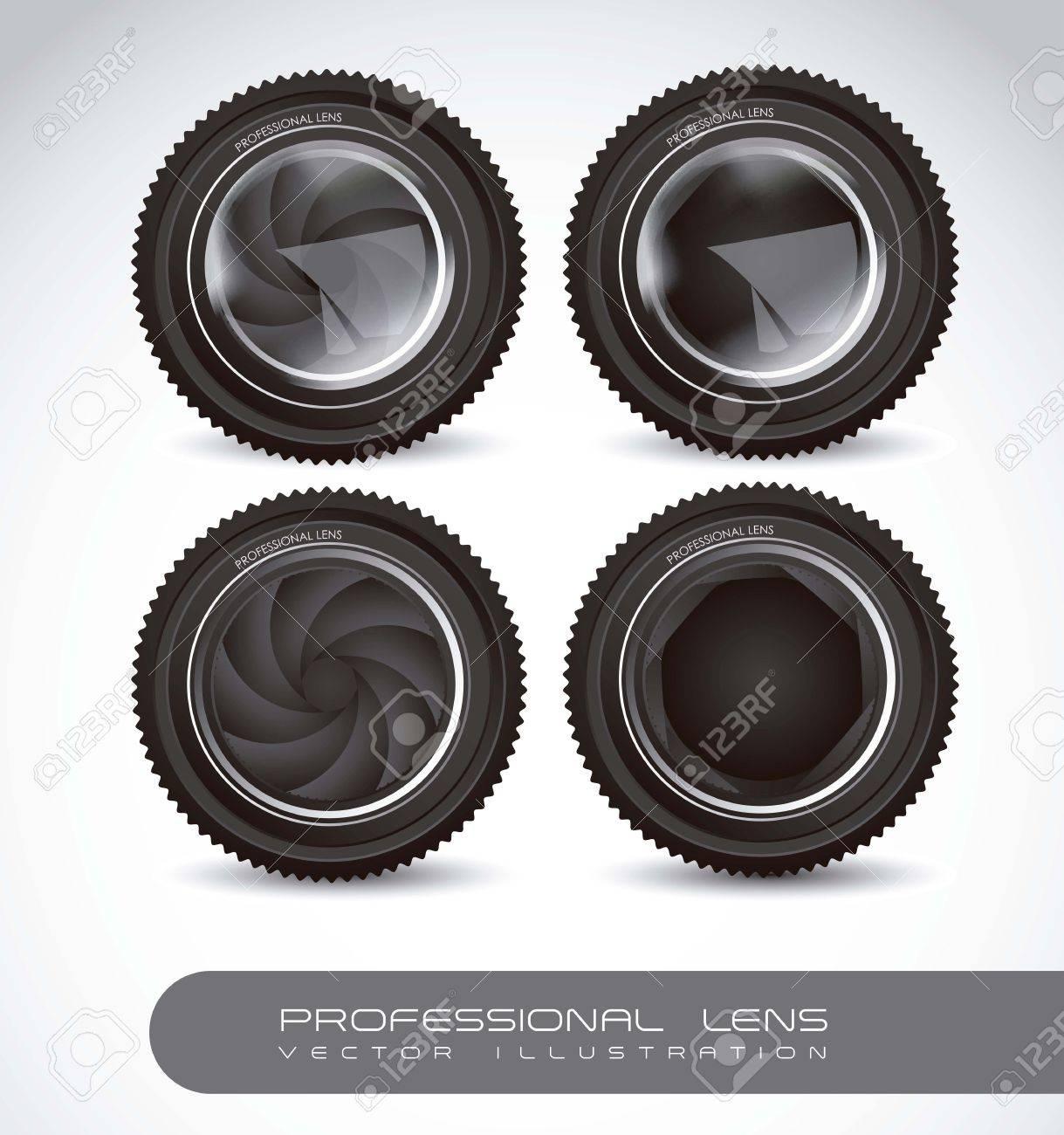 Illustration of camera lens isolated on white background,  illustration Stock Vector - 15191218