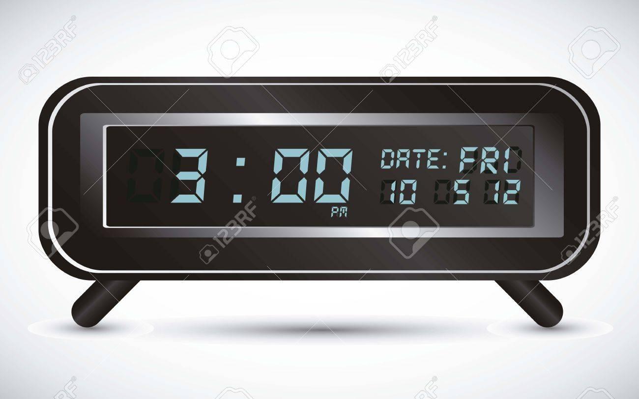 illustration of digital clock, isolated on white background, vector illustration Stock Vector - 14945941