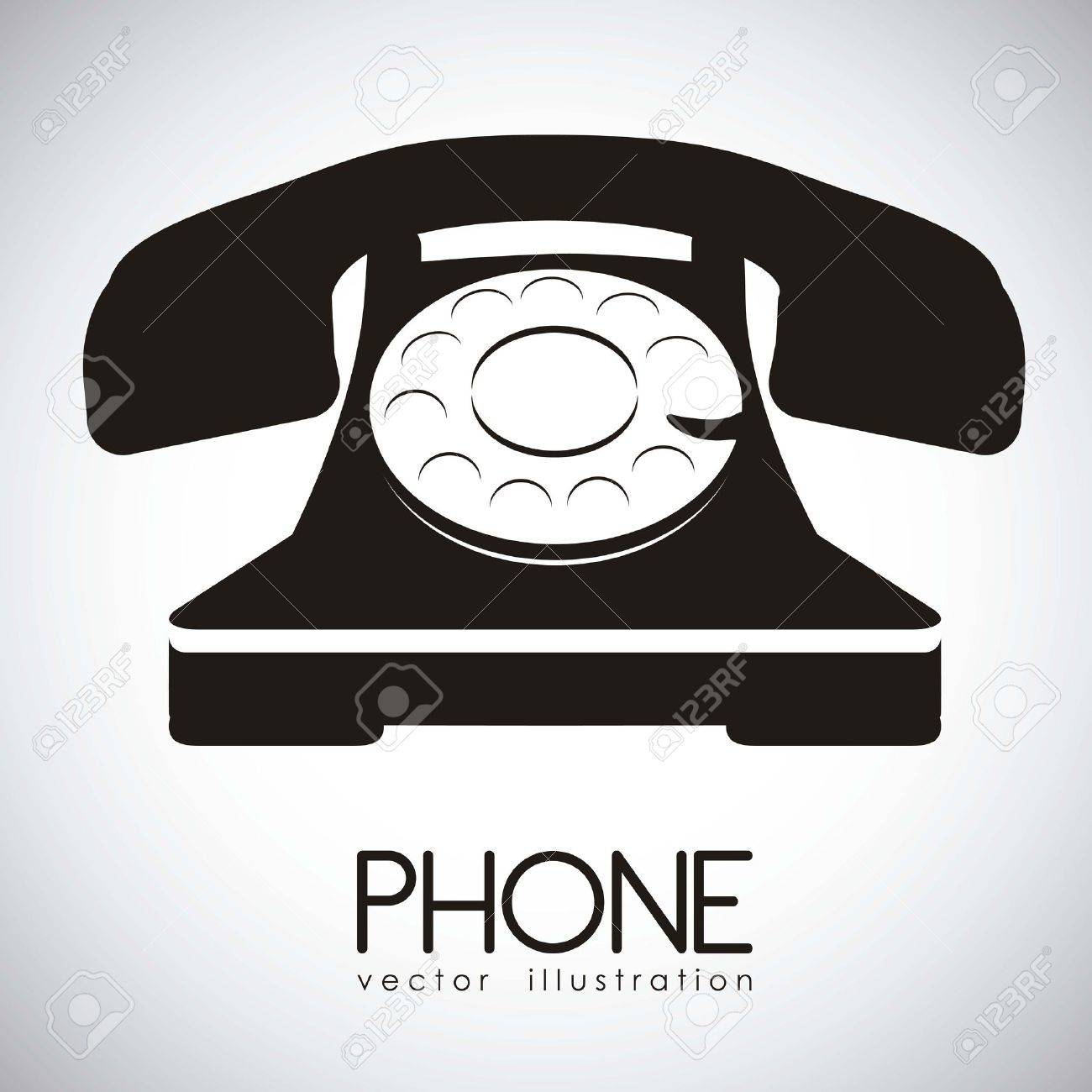 illustration of a rotary phone, black color, vector illustration Stock Vector - 14945998