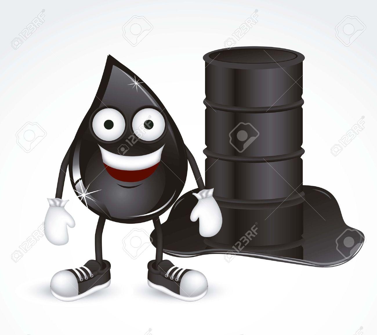 Ilustración de la gota de petróleo con los zapatos y los guantes, ilustración vectorial Foto de archivo - 14946231