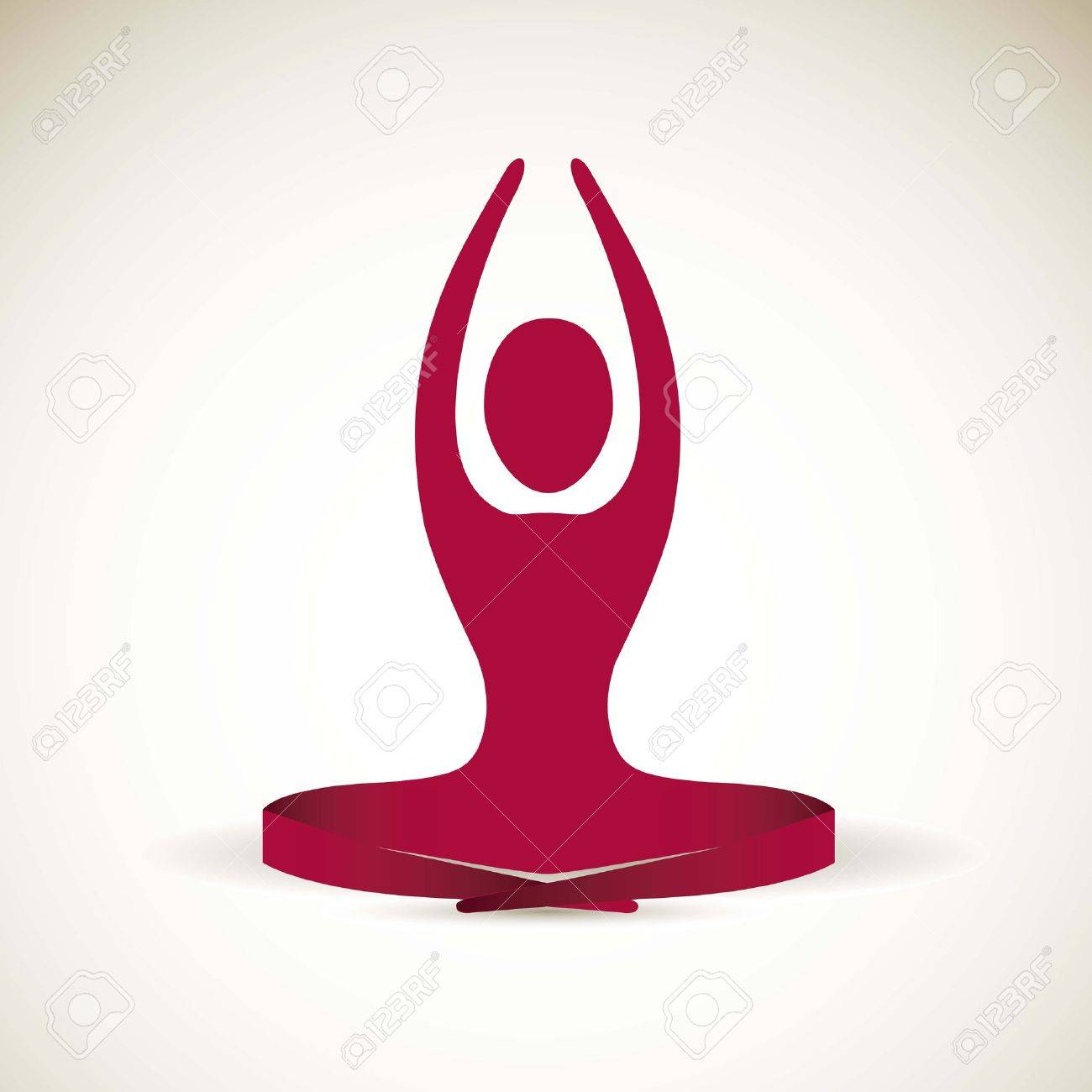 yoga icon : silhouette of man