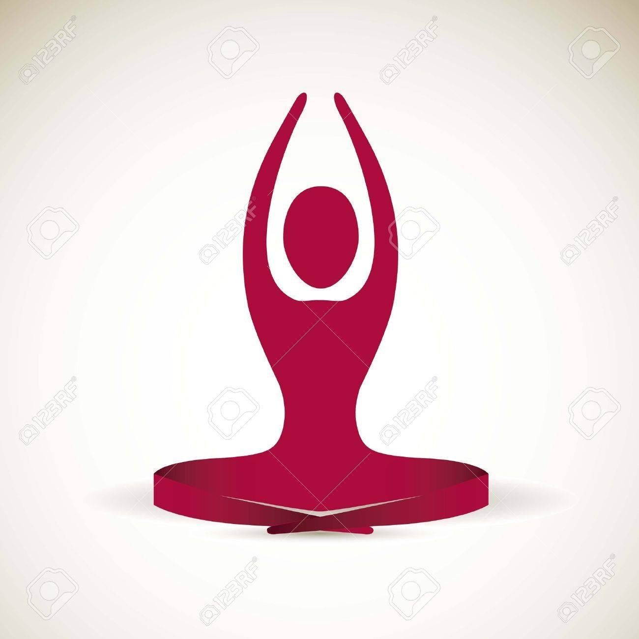 yoga icon : silhouette of man
