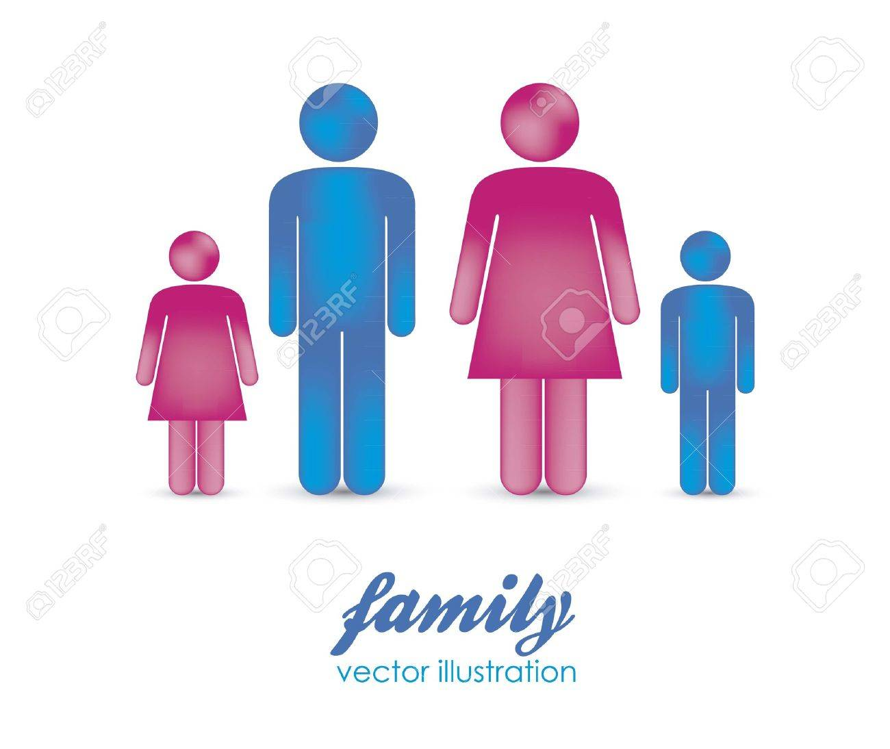 Illustration of silhouettes of people that make a family, vector illustration Stock Vector - 15271563
