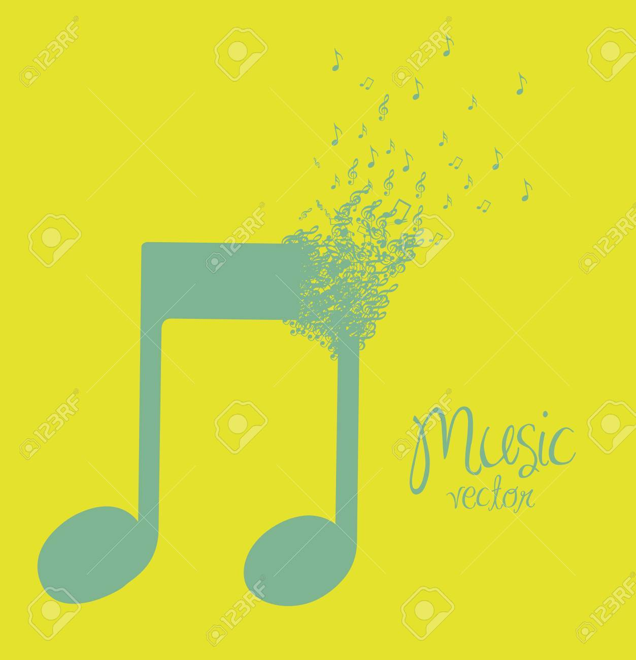 Illustration Of Musical Note Forming With Small Musical Notes ...