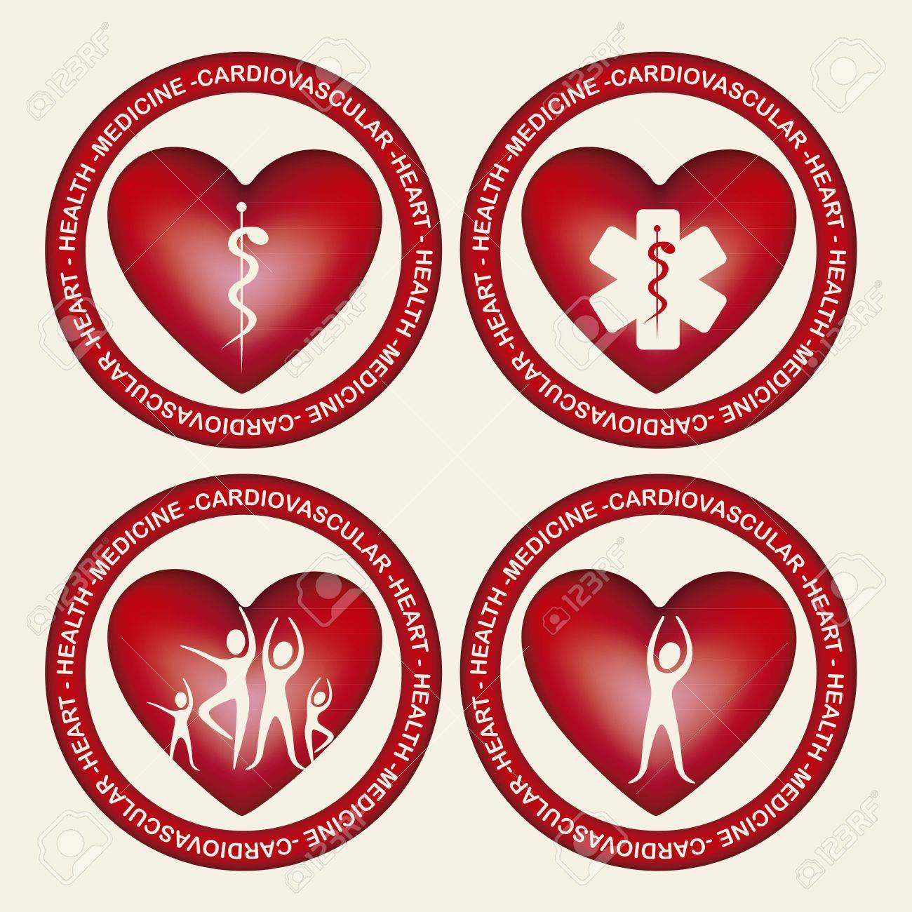 Illustration of health icons, isolated on beige background, medicine icon, vector illustration Stock Vector - 15792834