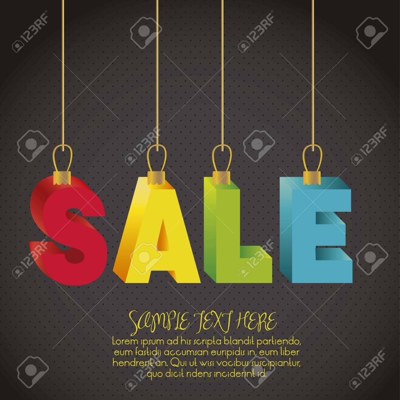 illustration of sale, with colorful 3D letters Stock Vector - 15889625
