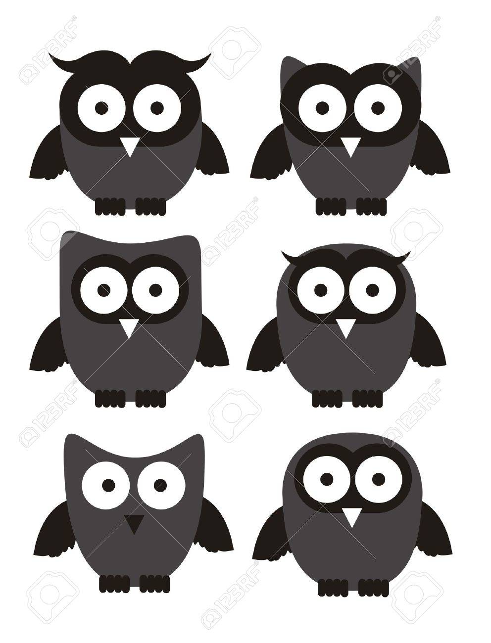 Illustration of birds icons, icons with animal silhouettes. vector illustration Stock Vector - 16126042