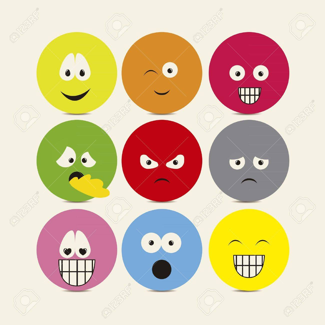 Illustration of expressions icons, with different gestures, vector illustration Stock Vector - 16183873