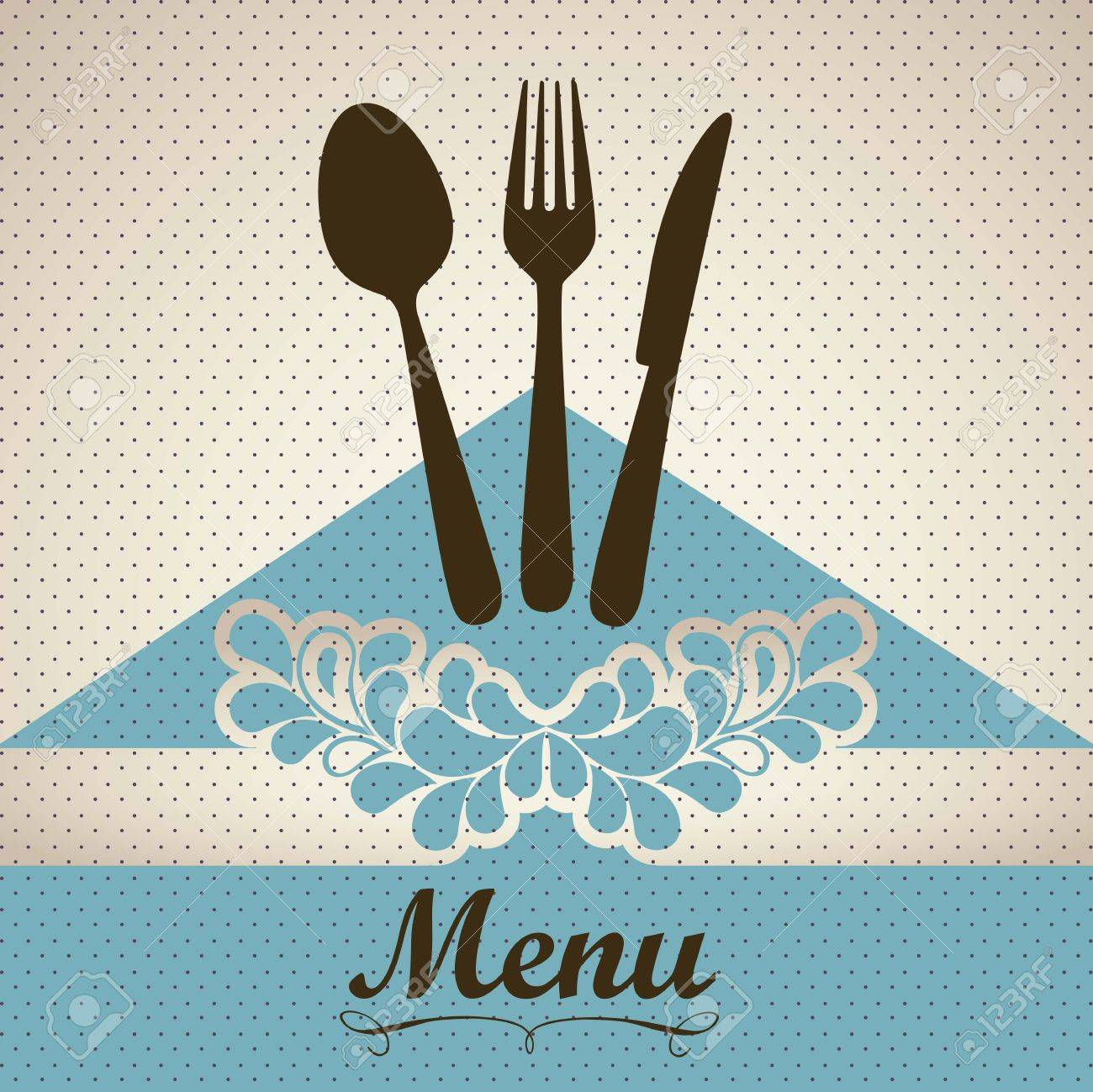 Illustration of Menu retro. Vintage restaurant menu, vector illustration Stock Vector - 16184614