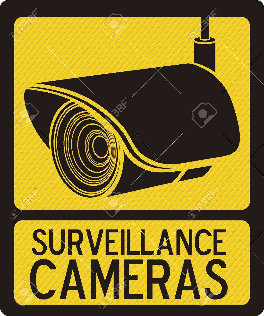 Illustration of security camera, security cameras icons, vector illustration Stock Vector - 16350292