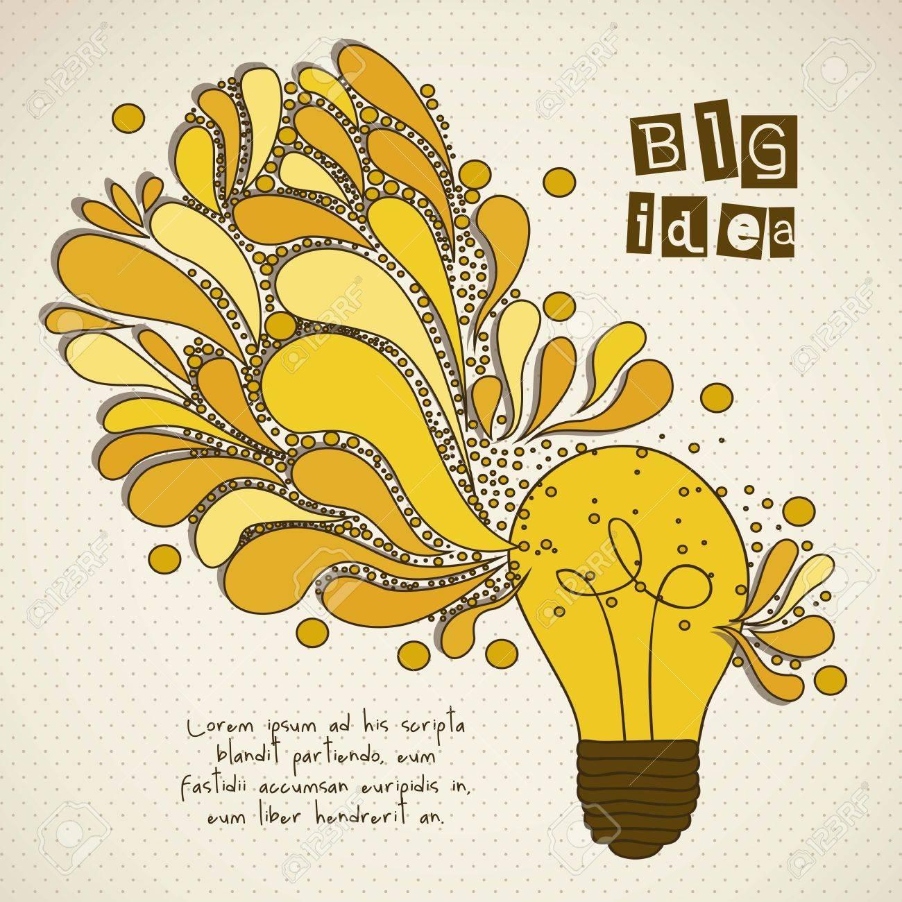 bulb representing an idea, wirh colorful drops, vector illustration Stock Vector - 16819422