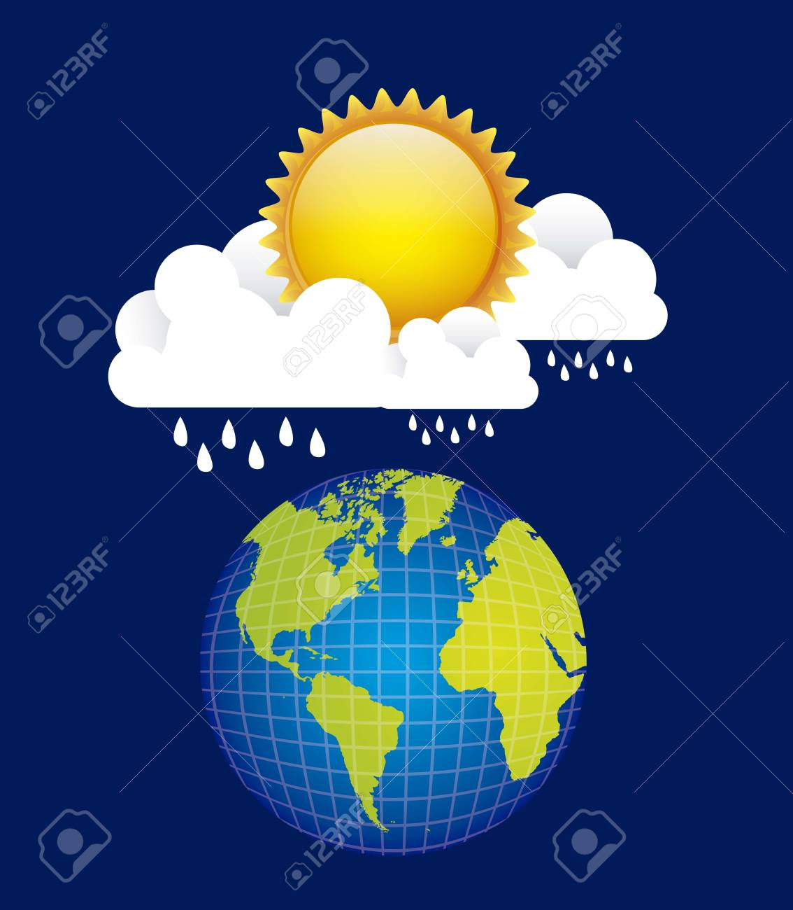 Illustration of icons sun icons of weather and seasons, vector illustration Stock Vector - 16819380