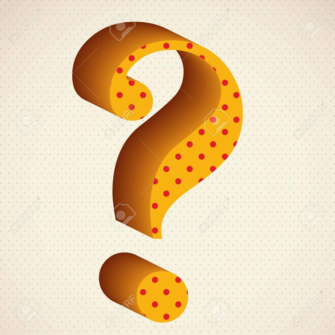 Icon of question, question mark silhouette with dots, vector illustration Stock Vector - 17004322
