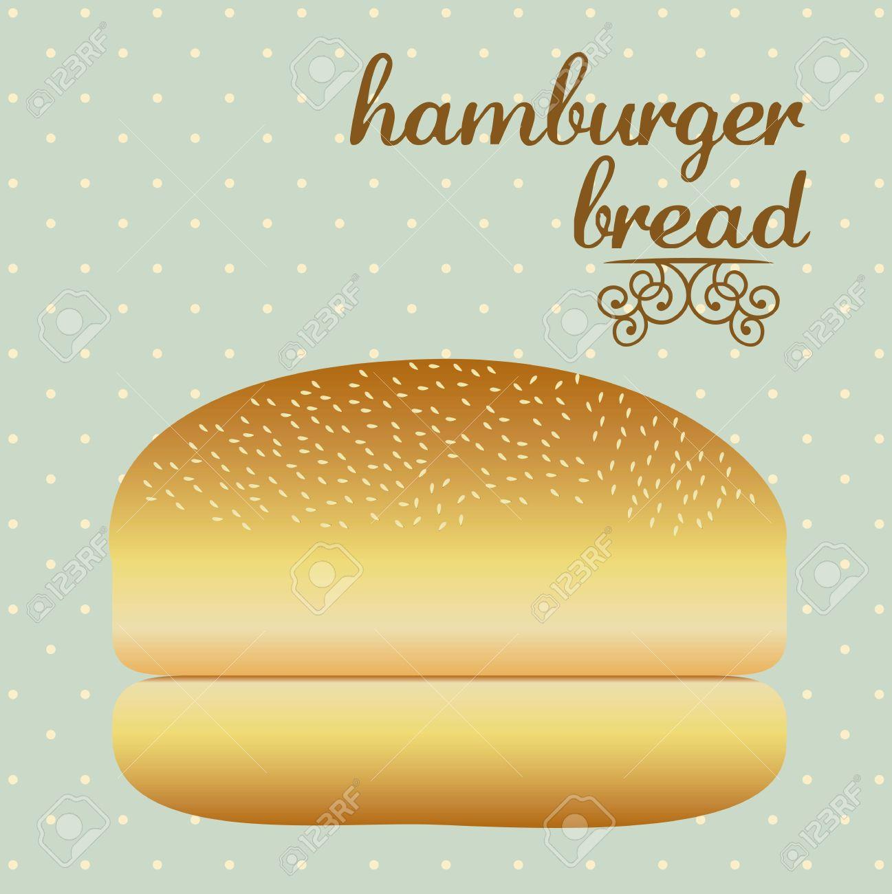 Illustration of hamburger bread, bakery icon, vector illustration Stock Vector - 17002552