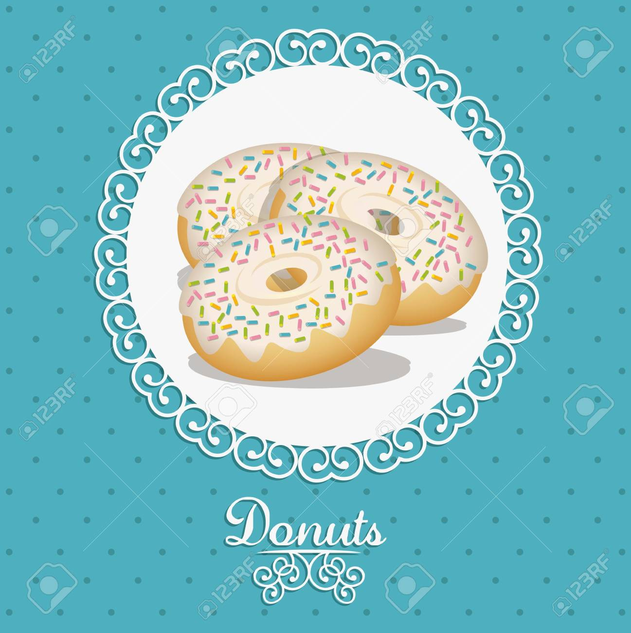 Illustration of donut and food, bakery icon, vector illustration Stock Vector - 17004295