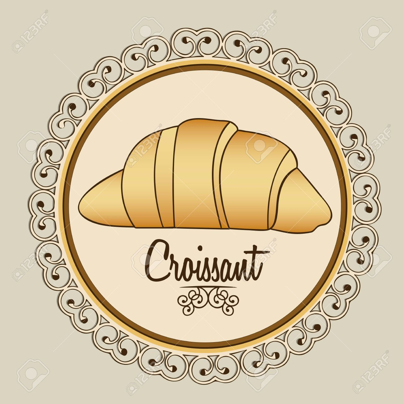Illustration of croissant and food, bakery icon, vector illustration Stock Vector - 17002642