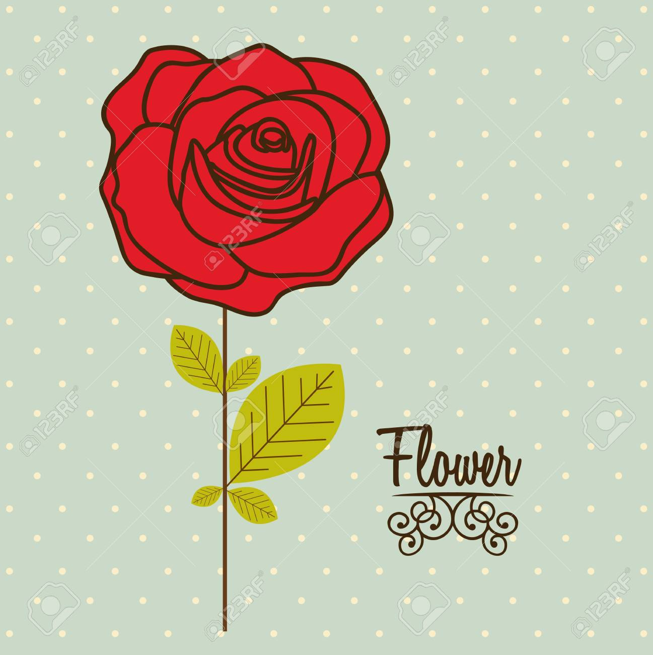 Illustration flowers icons, spring and valentines day, vector illustration Stock Vector - 17002497