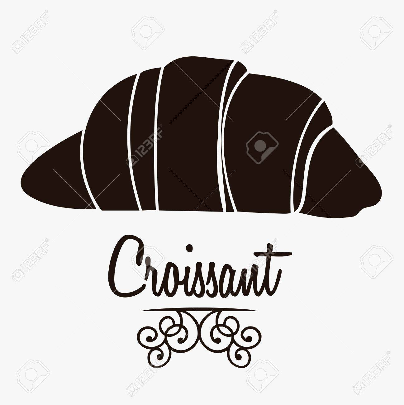 Illustration of croissant and food, bakery icon, vector illustration Stock Vector - 17001781