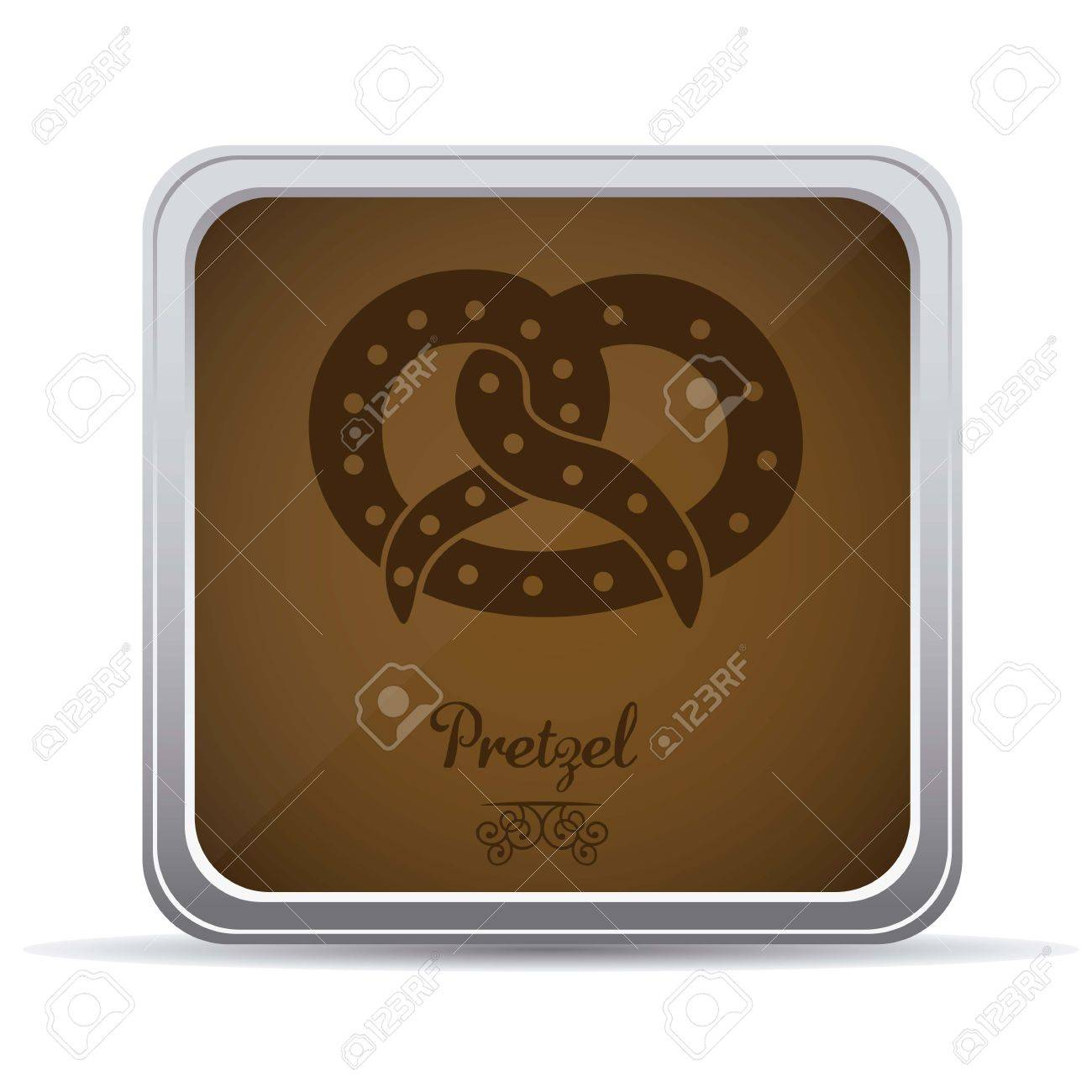 Illustration of pretzel and food, bakery icon, vector illustration Stock Vector - 17001806
