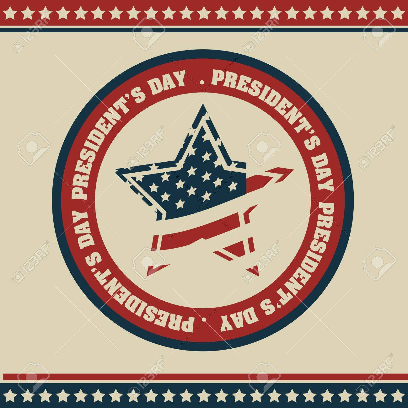 Poster illustration of President's Day in the United States of America in vintage style, vector illustration Stock Vector - 17352854