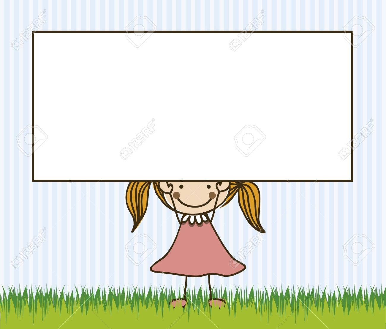 Illustration of girl, in cartoon style and sketch, vector illustration Stock Vector - 17431746