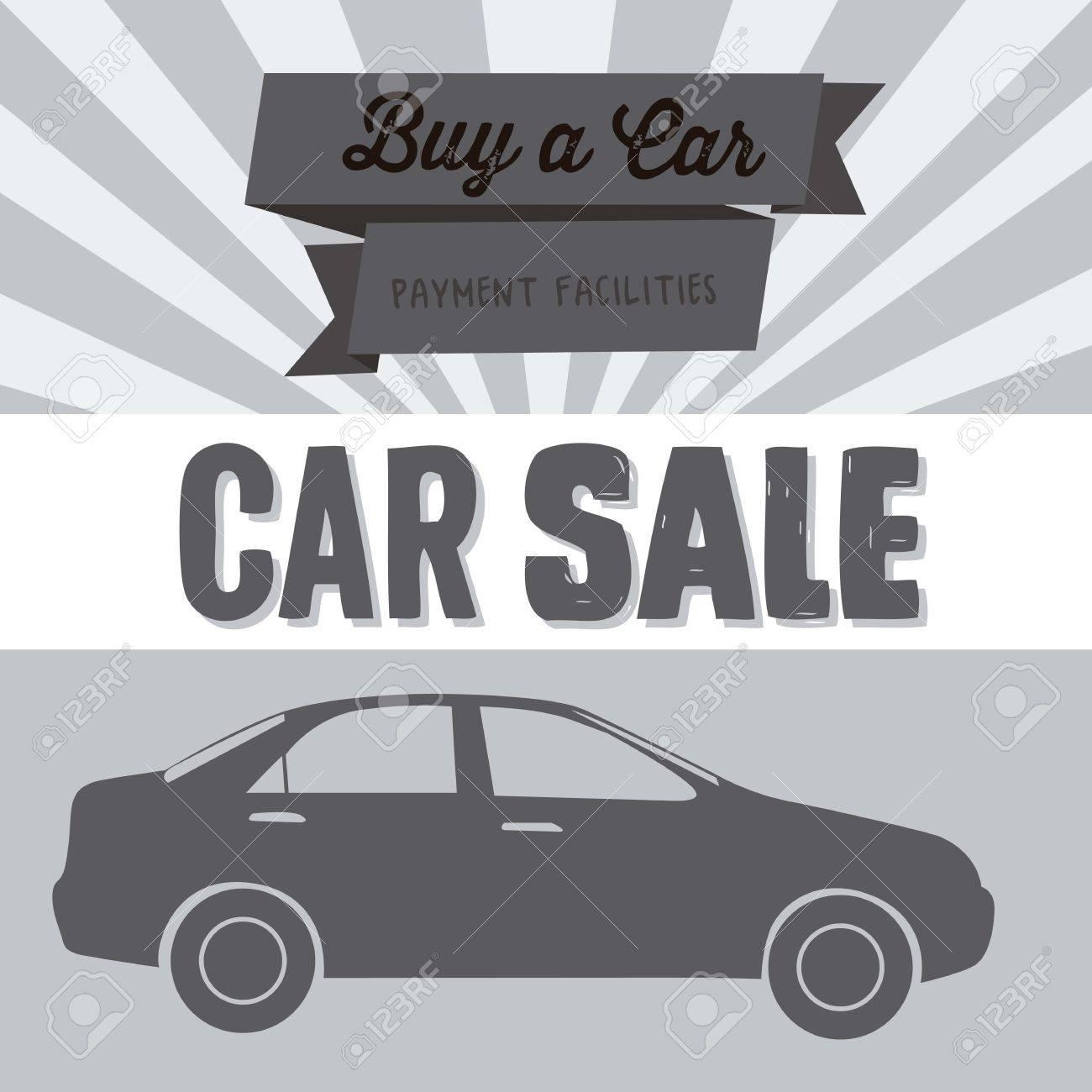 Illustration of buy a car label, car sale, vector illustration - 17614508