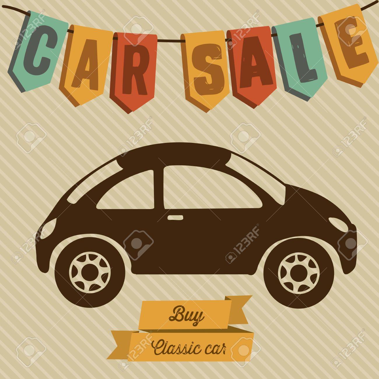 Illustration of buy a car label, car sale, vector illustration - 17614502